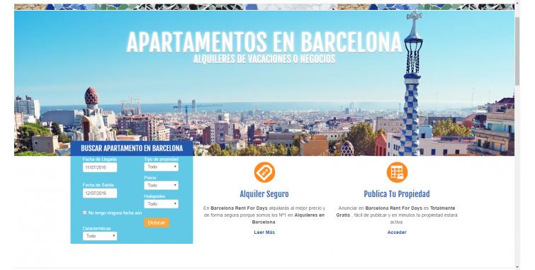 Diseño Web Reserva de Alojamientos Barcelona