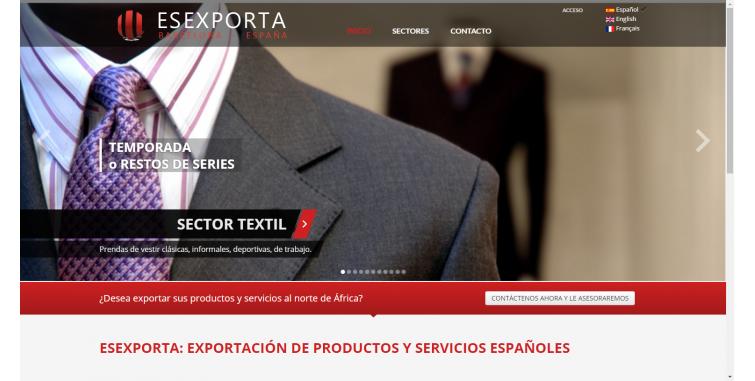 Diseño web Agencia Exportadora