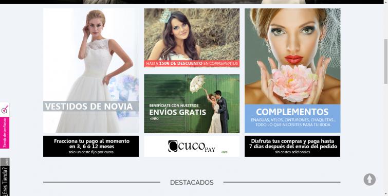 Diseño Tienda Online Vestidos de Novia