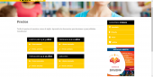 Diseño página web escuela idiomas