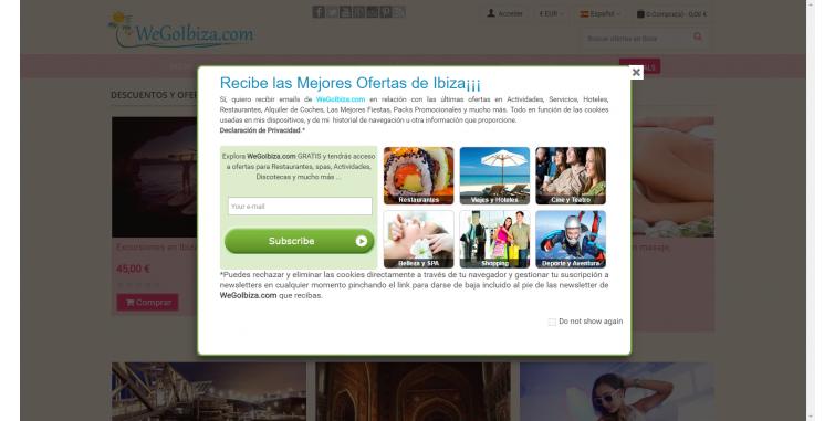 Diseño Web Página de cupones