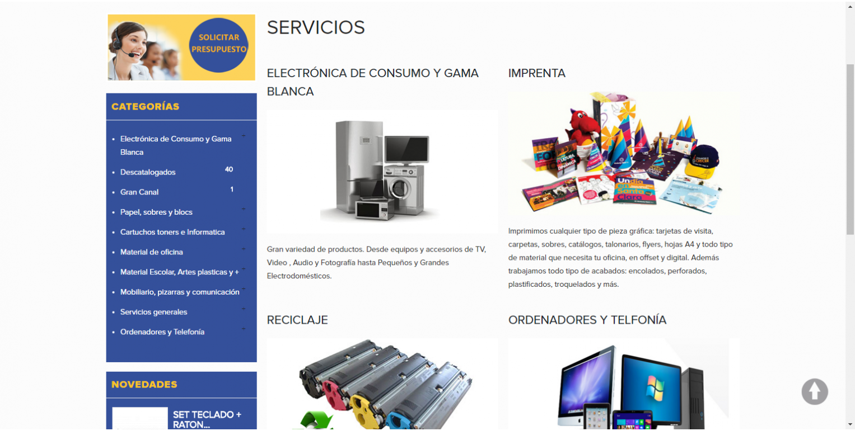 Dise o tienda online material de oficina world motion for Material de oficina online