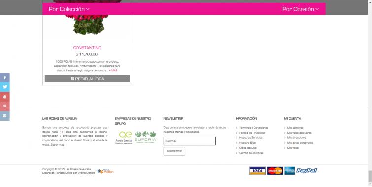 Diseño Tienda virtual venta de flores