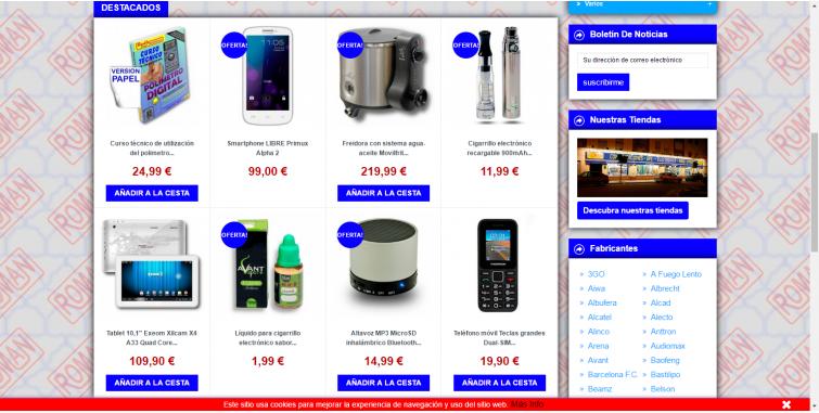 Diseño Tienda virtual electrónica