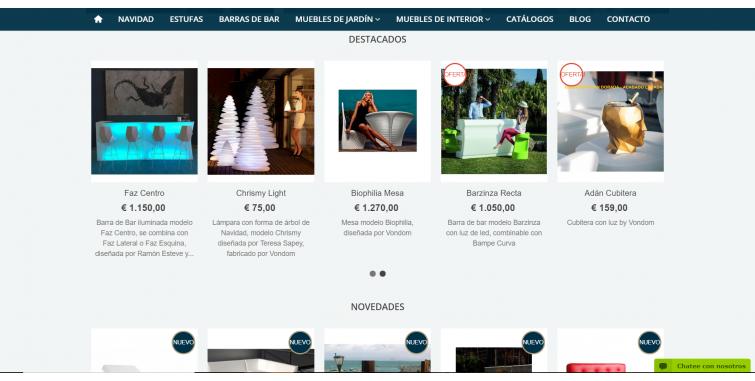 Diseño Tienda Online Muebles de Jadín