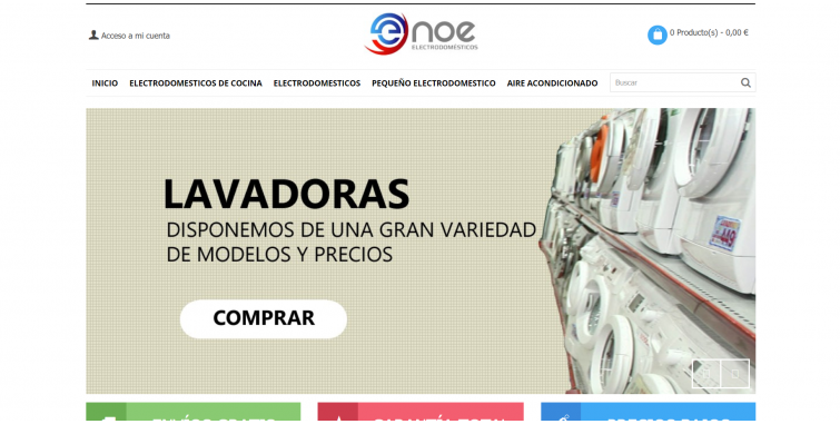 Diseño Tienda Online Electrodomésticos