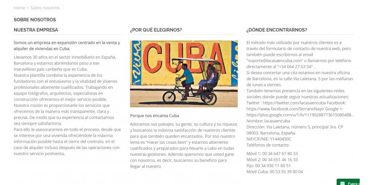 Diseño Web Reserva de Alojamientos Cuba