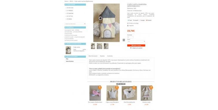 Diseño Tienda Online Ropa para Bebes