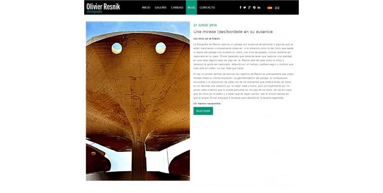Diseño de Página web Agencia Fotografía