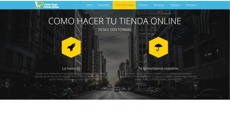 Diseño de Página web para venta ecommerce